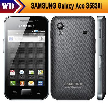 S5830i Samsung Galaxy Ace S5830 Original Android 5MP WIFI GPS Unlocked Mobile Phone Free Shipping