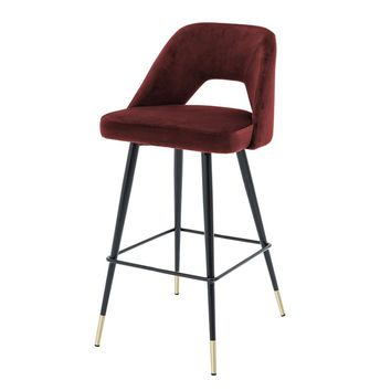 Red Bar Stool | Eichholtz Avorio