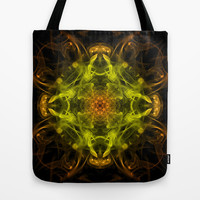 Orange & Yellow Smoke Art Tote Bag by Karl Wilson Photography