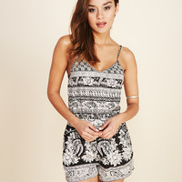 Angie™ Monochrome Gypsy Romper | Wet Seal