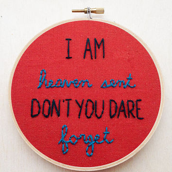 Brand New Déjà Entendu Lyric Embroidery Hoop Jesse Lacey Pop Punk Wall Art Music Home Decor Colorful Home Decor Space Astronomy Home Decor