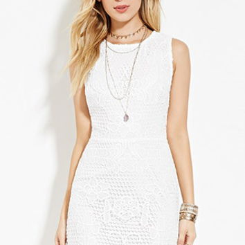 Cutout-Back Crochet Dress