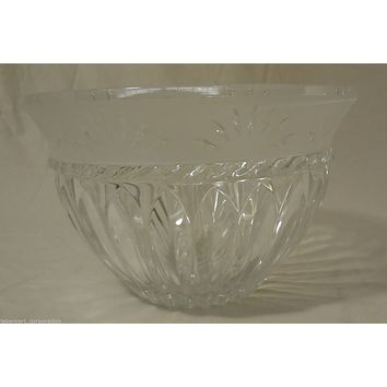 Cristal D'Arques Crystal Serving Bowl 8in x 8in x 6in