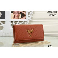 GUCCI 2018 New Butterfly Metal Premium Chain Bag F-MYJSY-BB Brown