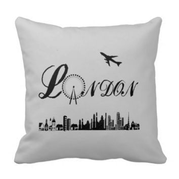 London Eye British Theme Pillow/Cushion