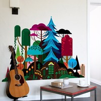 Blik Wall Decals: Imaginary Forest by Patrick Hruby