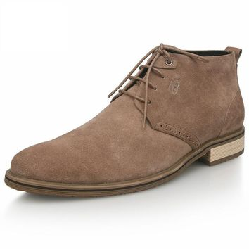 Leather Men's Casual lace up dessert chukka Boots shoes Bussiness Oxford dress shoes