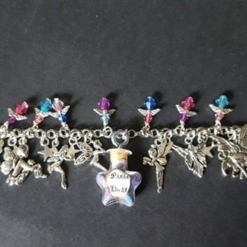 Fairy pixie dust themed charm bracelet