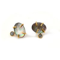 Monterosso Pearl and Moonstone Studs
