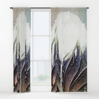 My magical beans garden Window Curtains by happymelvin
