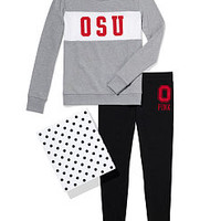 The Ohio State University Colorblock Crew & Legging Gift Set - PINK - Victoria's Secret