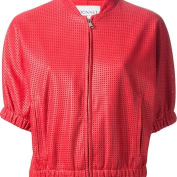 Vionnet Perforated Leather Jacket