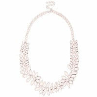 LIGHT PINK COATED STATEMENT NECKLACE
