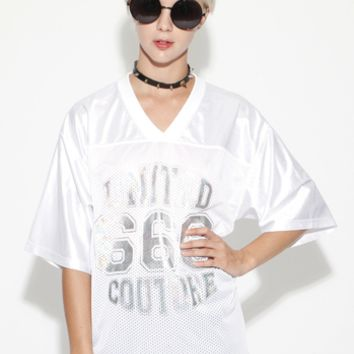 666 White Hologram United Couture Jersey