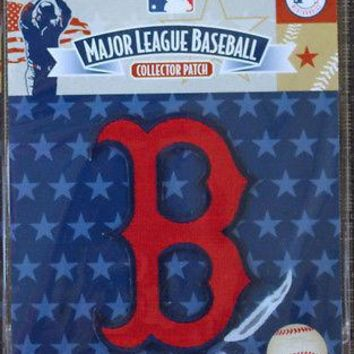 "MLB Collector Patch Boston Red Sox Alternate Logo "" B "" Hat Logo"