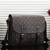 Louis Vuitton LV Women Fashion Leather Satchel Shoulder Bag Crossbody