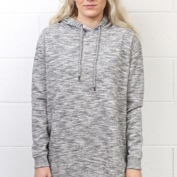 Long Sleeve Oversized Hoodie Tunic {H. Grey}