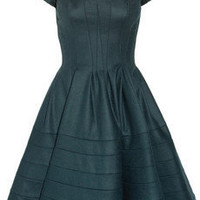 Zac Posen | Full-skirted stretch wool-blend dress