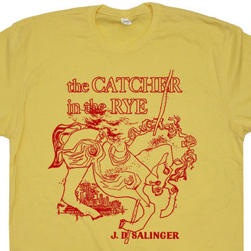 The Catcher In The Rye T Shirt JD Salinger T Shirt Vintage T Shirts