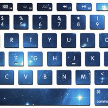 Blue star Nebula Macbook Keyboard Stickers- Decal laptop MacBook pro decal MacBook decal MacBook air sticker J-019