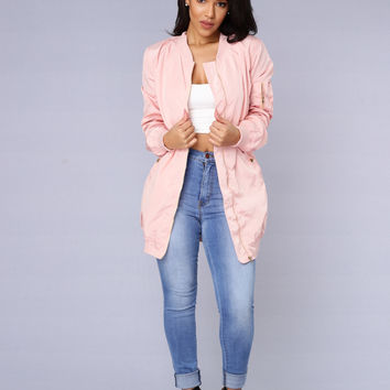 All Eyes On Me Jacket - Blush