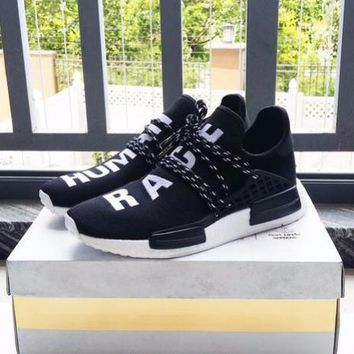 Best Online Sale Pharrell Williams x Adidas Consortium NMD Human Race Black Sport Running Shoes Classic Casual Shoes Sneakers