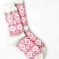 AEO Women's Bright Print Crew Sock