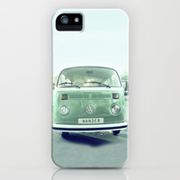 Vintage Wander wolkswagen. Summer dreams. Green iPhone & iPod Case by Guido Montañés