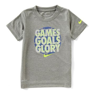 Nike Little Boys 2T-7 Short-Sleeve Games Goals Glory Tee | Dillards