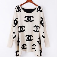 Retro loose bat sleeve sweater A 082706