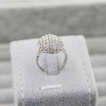 Fashion Silver Charm Vampire Twilight Bella Crystal Ring Replica Engagement Wedding Ring Jewelry Valentine Gift
