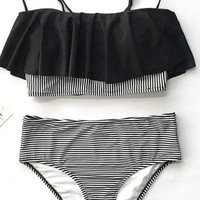 Cupshe Never Be The Same Falbala Bikini Set
