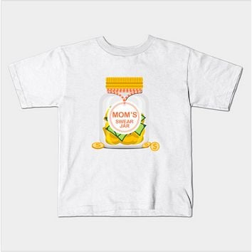 Mom's Swear Jar Funny Curse Kids Toddler T-Shirt (Ages 1-3)