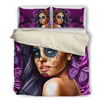 Custom ARTWORK Comforter-Violet