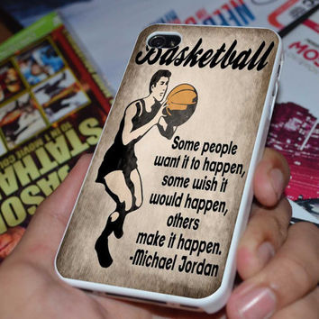 Vintage Basketball Art Case for iPhone 4/4S iPhone 5/5S/5C and Samsung Galaxy S3/S4