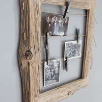 Reclaimed Farm Wood Photo Display 11x14
