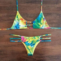 Womens Floral Bikini Swimsuits Two Pieces