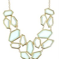 Olivia Welles Geometric Stone Bib Necklace - Summer Brights By Olivia Welles Jewelry - Modnique.com