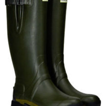 HUNTER MEN BALMORAL ADJUSTABLE EQUESTRIAN DARK OLIVE WELLINGTON BOOTS Green NIB