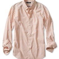 Banana Republic Mens Tailored Slim Fit Soft Wash Bold Gingham Shirt