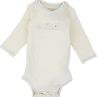 Long Sleeve Unisex Baby Onesuit w/ Imprints Whale