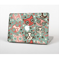 """The Vector Cat Faced Collage Skin Set for the Apple MacBook Air 11"""""""