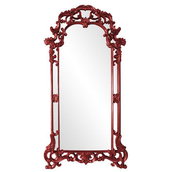 "Howard Elliott Imperial Red Mirror 44"" x 85"" x 2"""