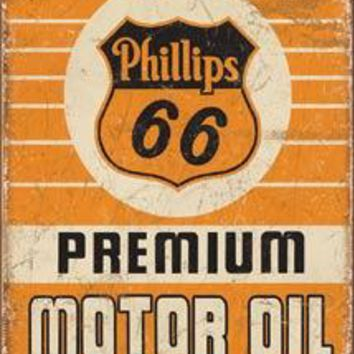 Tin Sign Phillips 66 Premium Oil