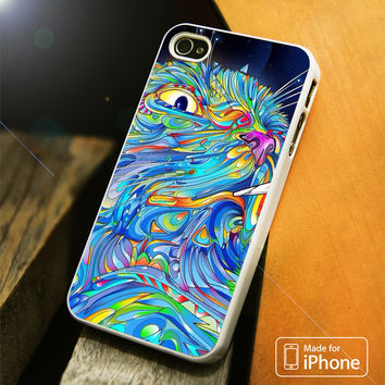 Trippy Cat iPhone 4 5 5C SE 6 Plus Case