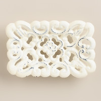 Antique White French Soap Dish - World Market