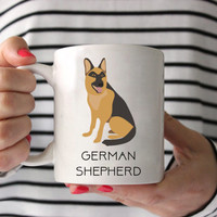 German Shepherd Coffee Mug - German Shepherd Ceramic Mug  - Dog Mug - Gift for Coffee Lovers - German Shepherd Lover Gift