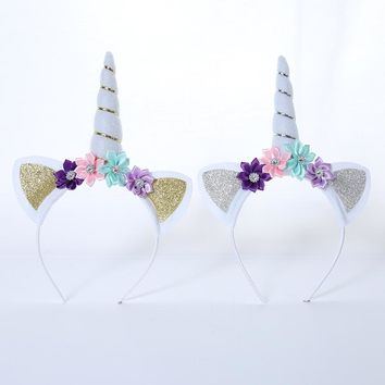 DIY hair accessories headband birthday party party wearing unicorn decoration