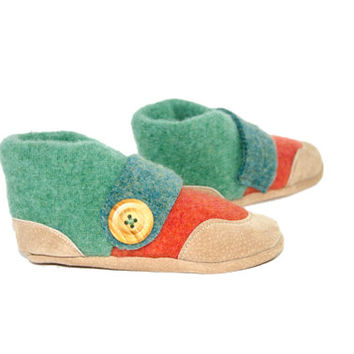 Recycled Wool Slippers, Toddler Moccasin