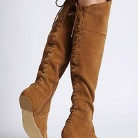Lace-up Over-the-knee Boot